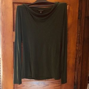 Banana Republic forest green cowl neck - M
